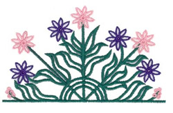 Flower Pocket Topper embroidery design