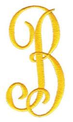 Big & Bold B embroidery design