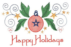Holidays Ornament embroidery design