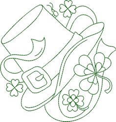 St. Patricks Day Greenwork embroidery design