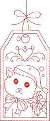 Redwork Cat embroidery design