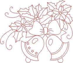 Redwork Bells embroidery design