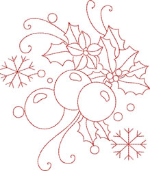 Christmas Redwork embroidery design