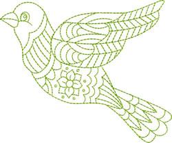 Bird Greenwork embroidery design