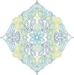 Flower Motif embroidery design