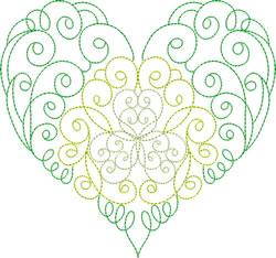 Swirl Heart embroidery design