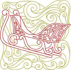 Redwork Sleigh embroidery design