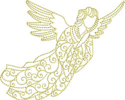Redwork Angel embroidery design