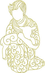 Nativity Redwork embroidery design