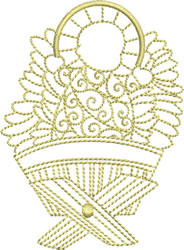 Baby Jesus Redwork embroidery design