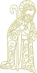 Nativity Redwork embroidery design