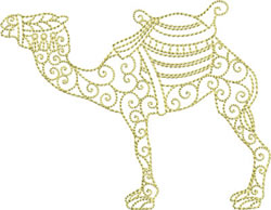Redwork Camel embroidery design