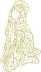 Redwork Mary embroidery design