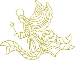Redwork Angels embroidery design