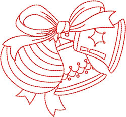 Christmas Bulbs and Bells embroidery design