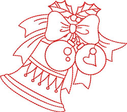 Redwork Christmas Decorations embroidery design