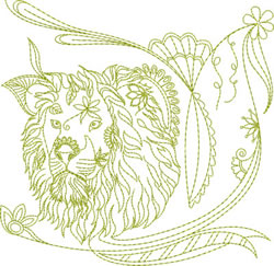 Redwork Lion embroidery design
