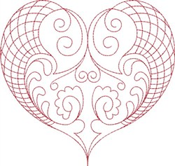Fancy Heart embroidery design