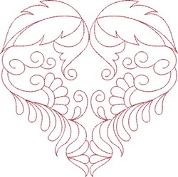 Beautiful Heart embroidery design