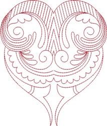 Big Swirl Heart embroidery design