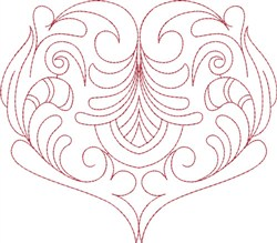 Pretty Heart embroidery design