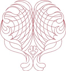 Romantic Heart embroidery design