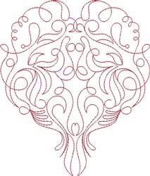 Fantasy Heart embroidery design
