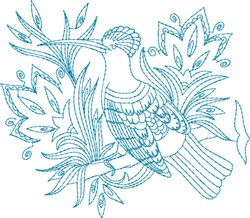 Fantasy Bird embroidery design