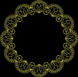 Frame embroidery design