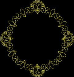 Round Frame embroidery design