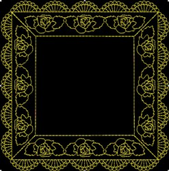 Box Frame embroidery design