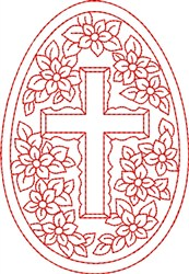 Redwork Egg embroidery design