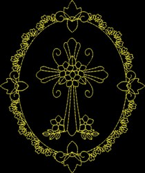 Christs Cross embroidery design