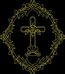Fancy Cross embroidery design