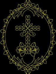 Cross Decor embroidery design