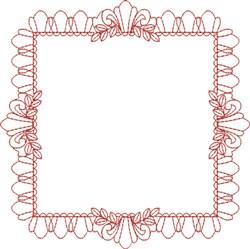 Redwork Frame embroidery design