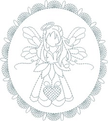 Fancy Angel embroidery design