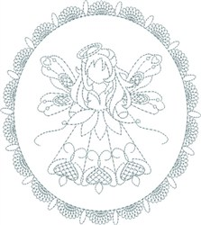 Lacy Angel embroidery design