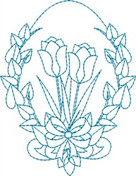 Tulip Egg embroidery design