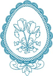 Lacy Eggs embroidery design