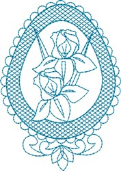Iris Egg embroidery design