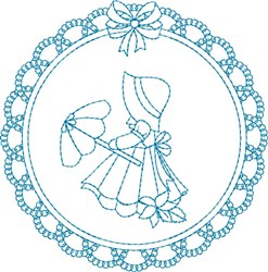 Girl With Umbrella embroidery design