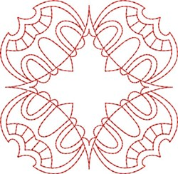 Redwork Diamond Block embroidery design