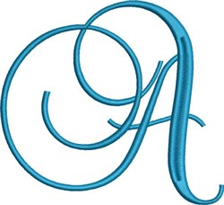 Heirloom Swirly Monogram A embroidery design