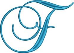 Heirloom Swirly Monogram F embroidery design