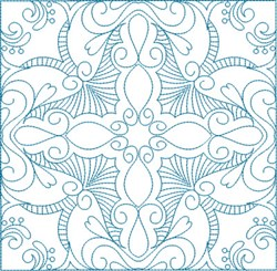 Swirly Quilt Block embroidery design