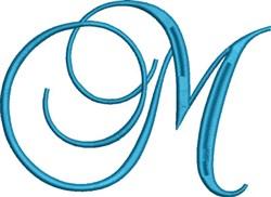 Heirloom Swirly Monogram M embroidery design