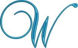 Heirloom Swirly Monogram W embroidery design