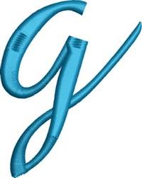 Heirloom Swirly Monogram g embroidery design