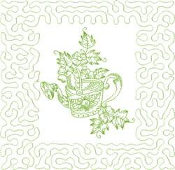 Garden Stipple Block embroidery design